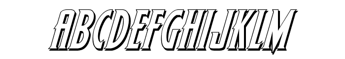Wolf's Bane 3D Italic Font UPPERCASE