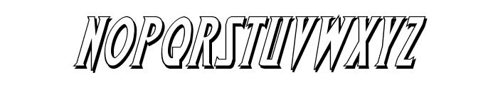 Wolf's Bane 3D Italic Font LOWERCASE