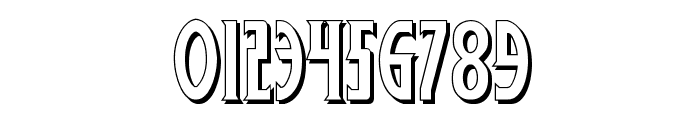 Wolf's Bane 3D Font OTHER CHARS