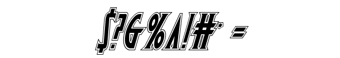 Wolf's Bane Academy Italic Font OTHER CHARS