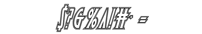 Wolf's Bane Engraved Italic Font OTHER CHARS