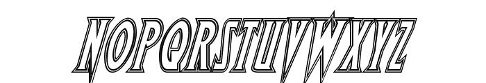 Wolf's Bane Engraved Italic Font UPPERCASE