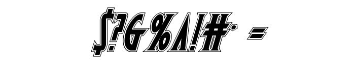 Wolf's Bane II Academy Italic Font OTHER CHARS