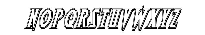 Wolf's Bane II Engraved Italic Font LOWERCASE