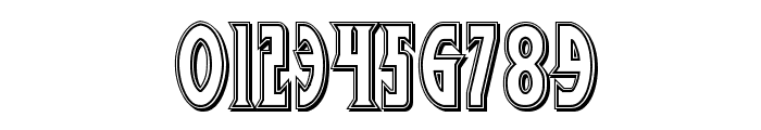 Wolf's Bane II Engraved Font OTHER CHARS