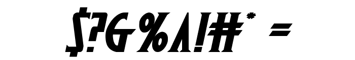 Wolf's Bane II Expanded Italic Font OTHER CHARS