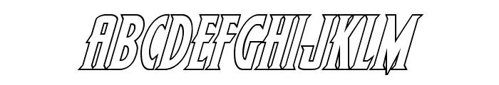 Wolf's Bane II Outline Italic Font UPPERCASE