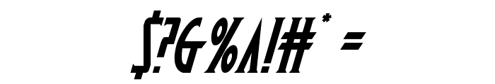 Wolf's Bane Italic Font OTHER CHARS
