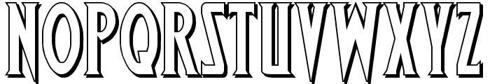 Wolf's Bane Shadow Font LOWERCASE