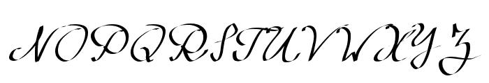 Wolgast Script Font UPPERCASE
