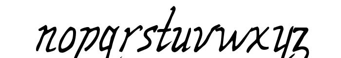 Wolven Script Font LOWERCASE
