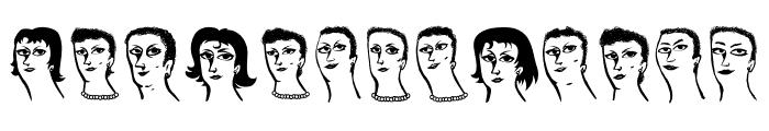 Womanhood Regular Font UPPERCASE