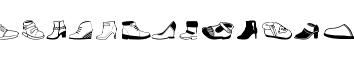 Women And Shoes Font UPPERCASE