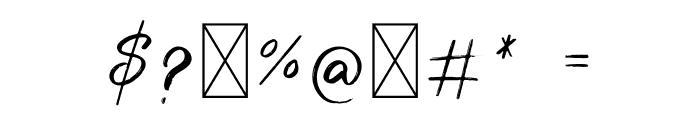 Wonder Scribble Font OTHER CHARS