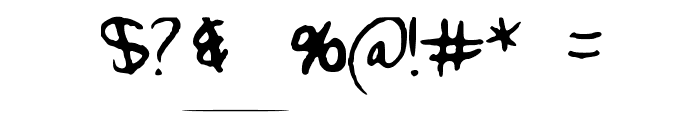 Wonderfully_Wandering Font OTHER CHARS