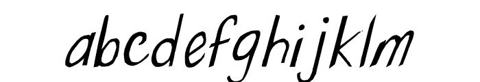 Wonky Printed Italic Font LOWERCASE