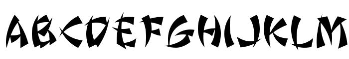 Wonton by Da Font Mafia Font UPPERCASE