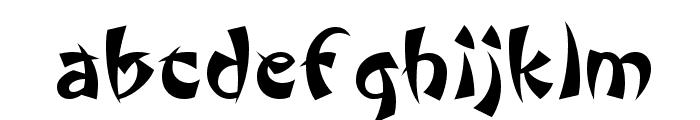 Wonton by Da Font Mafia Font LOWERCASE