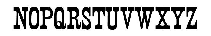 Wood Print Font UPPERCASE