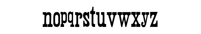 Wood Print Font LOWERCASE