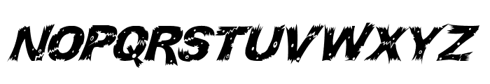 WoodCut Italic Font UPPERCASE