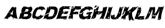 WoodCut Italic Font LOWERCASE