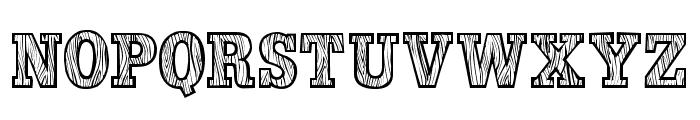 WoodLook Font UPPERCASE