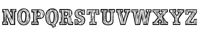 WoodLook Font LOWERCASE