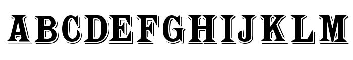 WoodTypesMK Font UPPERCASE