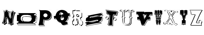 WoodTypesMK Font LOWERCASE