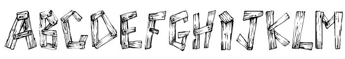 WoodWud Font UPPERCASE
