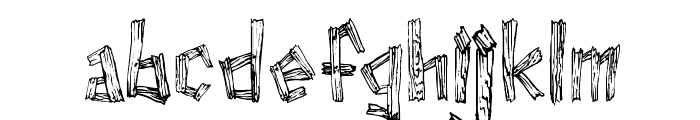 WoodWud Font LOWERCASE