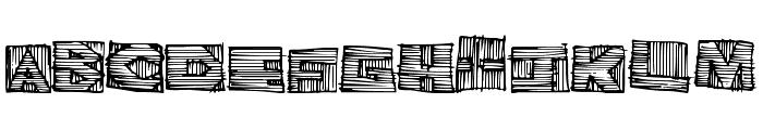 WoodblockCutter Font UPPERCASE
