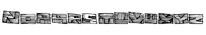WoodblockCutter Font LOWERCASE