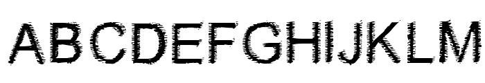 Woodbrush Font UPPERCASE