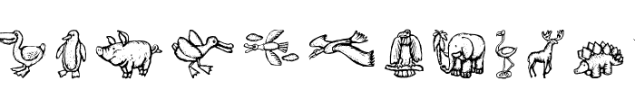 WoodcutAnimals Font UPPERCASE