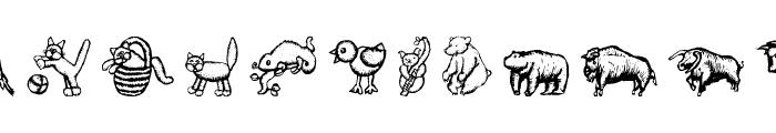 WoodcutAnimals Font LOWERCASE