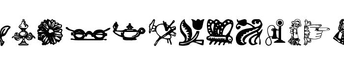 WoodcutOrnaments Font UPPERCASE