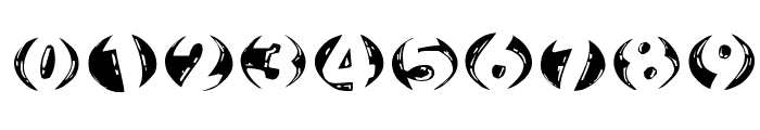 WoodcuttedCapsInversFS Font OTHER CHARS