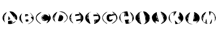 WoodcuttedCapsInversFS Font LOWERCASE