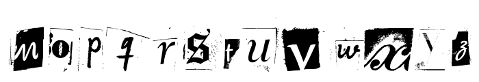 Woodcutter Anonymous part 2 Font LOWERCASE