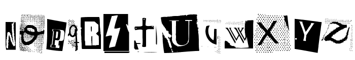 Woodcutter Anonymous Font LOWERCASE