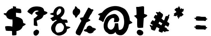 Woodcutter Dramatica Font OTHER CHARS