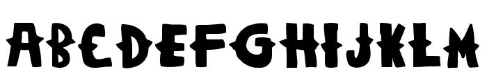Woodcutter Dramatica Font UPPERCASE
