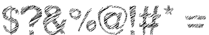 Woodcutter Fine Scketch Font OTHER CHARS