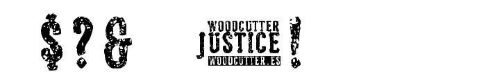 Woodcutter Justice Font OTHER CHARS