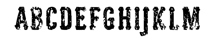 Woodcutter Justice Font LOWERCASE