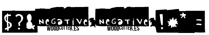 Woodcutter Negative Font OTHER CHARS
