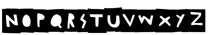 Woodcutter Negative Font LOWERCASE