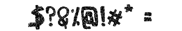 Woodcutter Noise Font OTHER CHARS